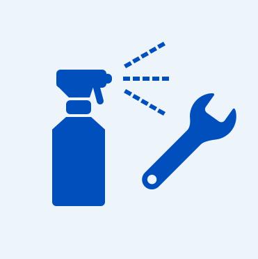 カバンや工具、靴の裏にもアルコール消毒/除菌