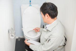 水道修理の様子